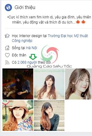 Mua follow trên Facebook