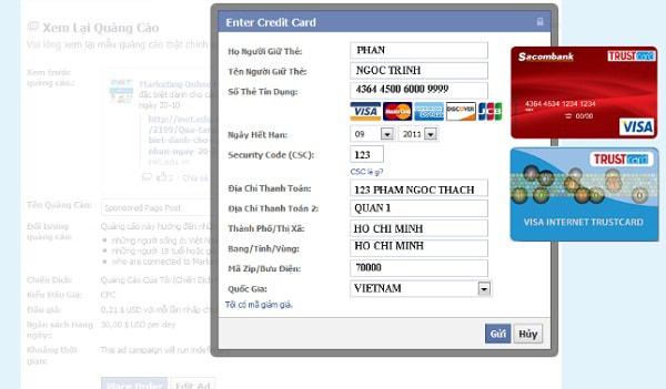 quảng cáo facebook không cắn tiền
