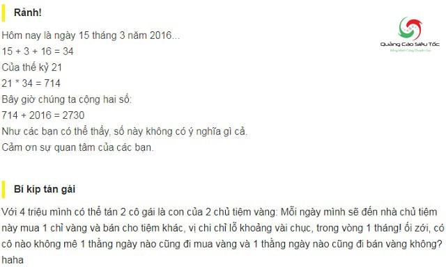 Những bình luận hài hước trên Facebook