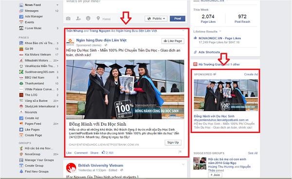 Những HìnhThức Quảng Cáo Facebook Phổ Biến Nhất