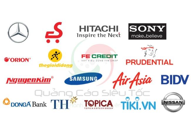 Một số thương hiệu lớn thường quảng cáo trên Cốc Cốc