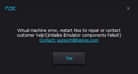 Nox App Player-một số lỗi thường gặp cơ bản