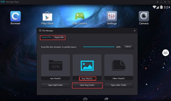 Nox App Player - Cách import tập tin vào Nox
