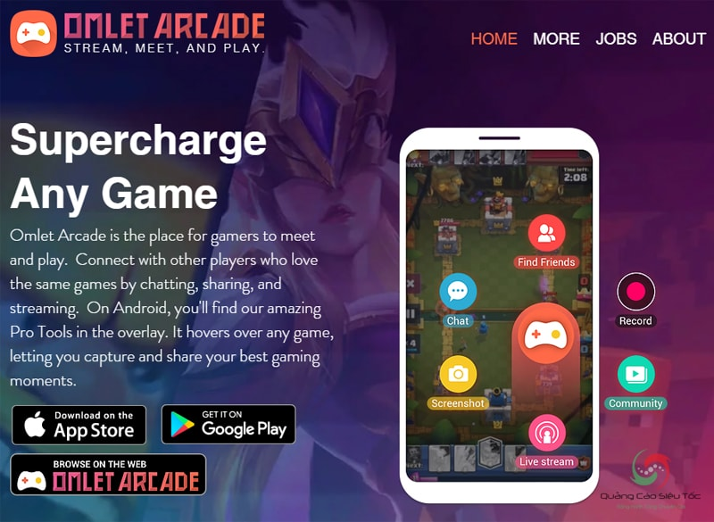 Live stream bằng phần mềm Omlet Arcade