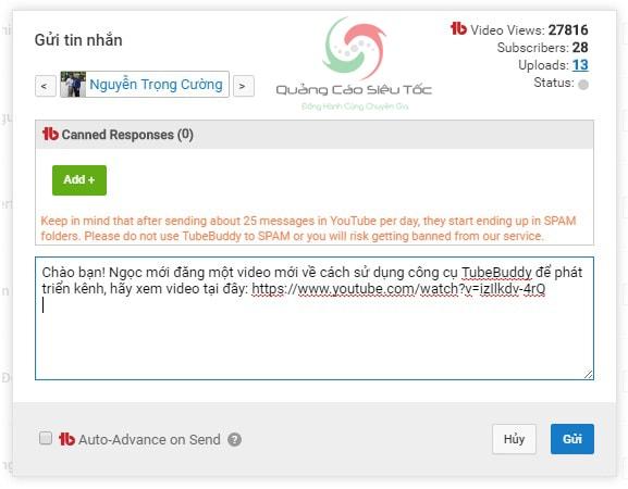 Công cụ hỗ trợ phát triển kênh Youtube hiệu quả