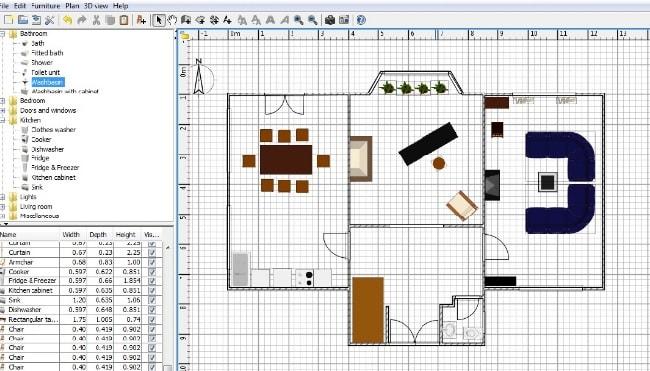 Phần mềm thiết kế nhà Sweet Home 3D - cách đặt thiết bị nội thất