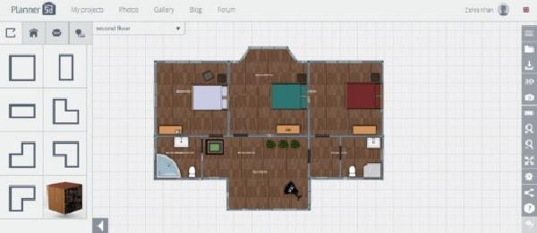 Phần mềm thiết kế nhà Planner 5D- Cách đặt đồ đạc thiết bị