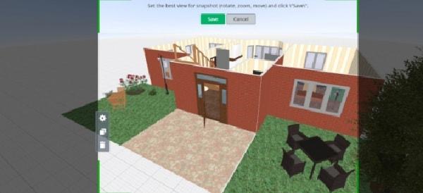 Phần mềm thiết kế nhà Planner5D - Cách xem trước ở chế độ 3D