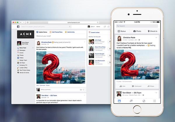 Ứng Dụng Facebook Công Sở Sắp Được Ra Mắt