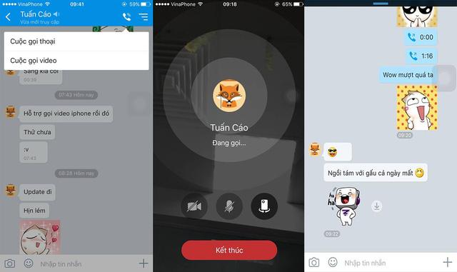 Tính Năng Video Call Vừa Mới Xuất Hiện Ở Bản Zalo Trên IOS
