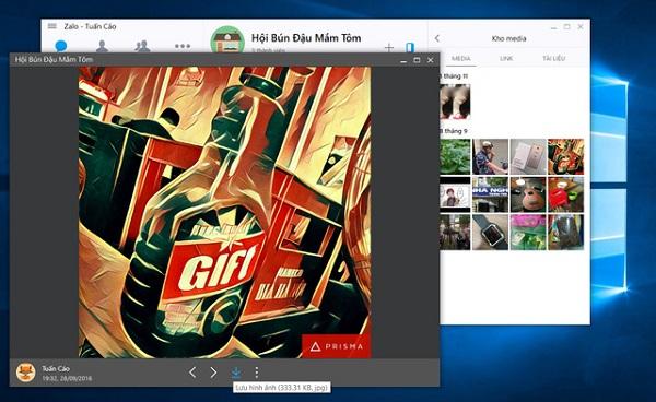 Phiên Bản Zalo Trên PC đươc Câp Nhập Tính Năng Mới