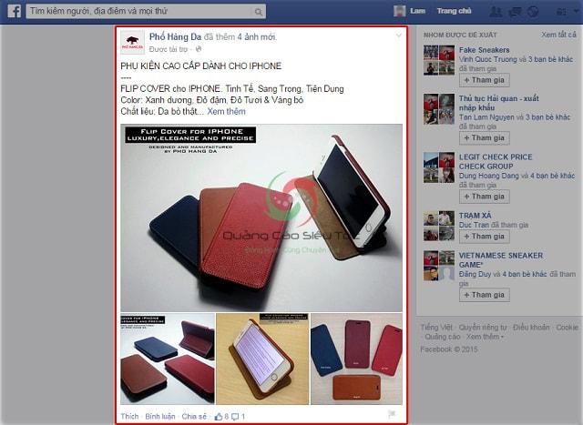 Quảng cáo bài viết giá rẻ trên Facebook