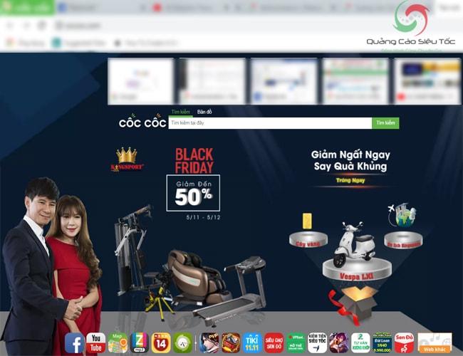Dạng quảng cáo Browser của Cốc Cốc