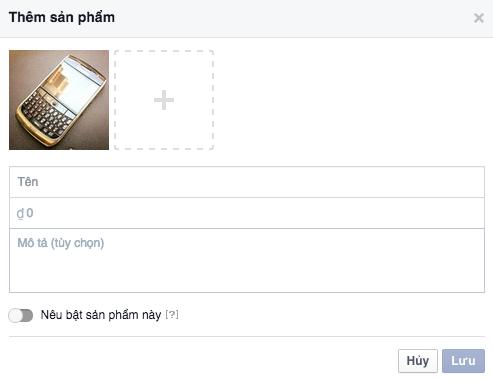 quang cao facebook 11 - tab cua hang tren facebook
