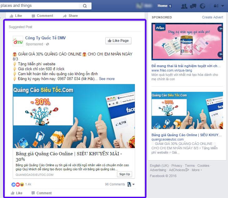 hai mau quang cao facebook cua cong ty quoc te dmv