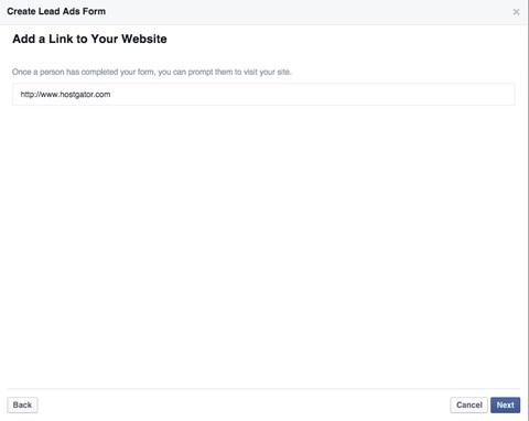 Quảng Cáo Facebook Leed Giúp Thu Thập Thông Tin Người Dùng