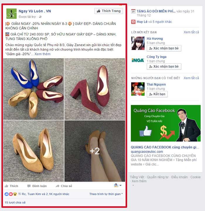 Quảng cáo Facebook theo bài viết | Quảng Cáo Siêu Tốc.Com