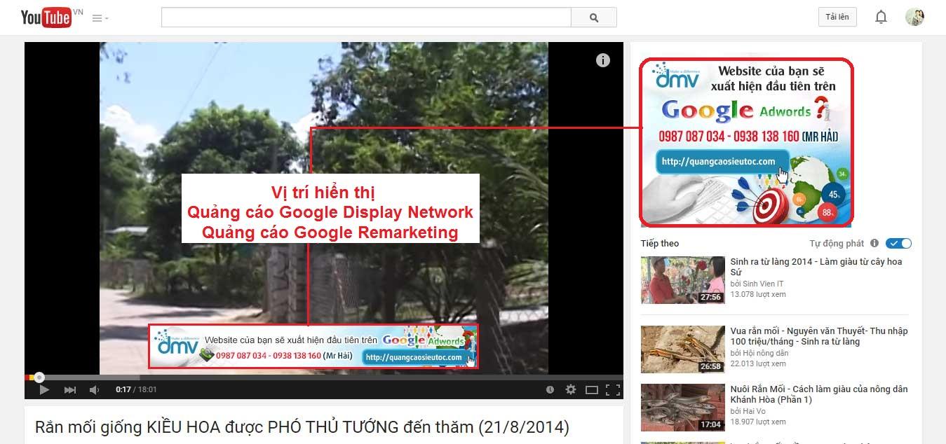 mau hien thi quang cao google remarketing tren youtube