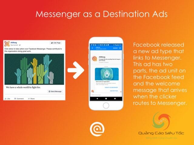 Các hình thức quảng cáo Messenger Facebook