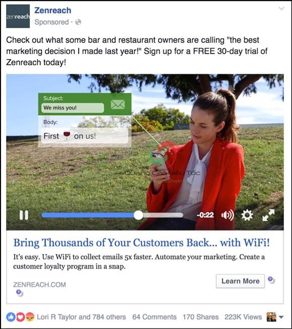 Quảng cáo dạng video trên Facebook