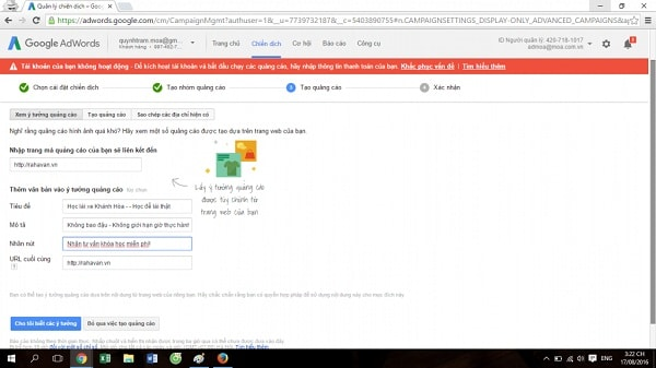 quảng cáo tiếp thị lại google
