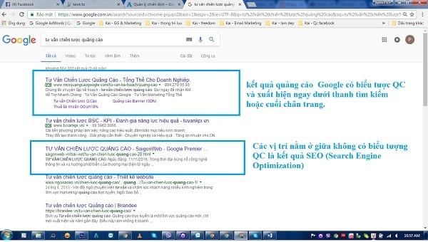 quang cao tu khoa google gia re
