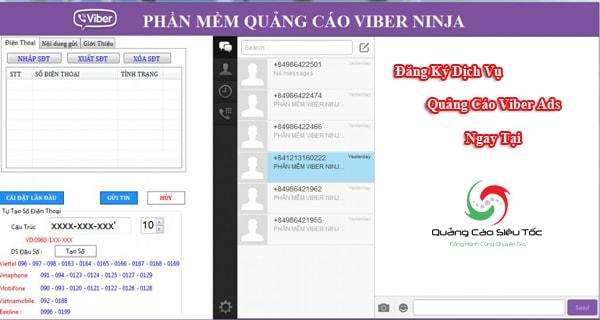 Phần mềm gửi tin nhắn Viber Marketing