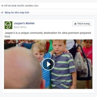 Xem mẫu trước quảng cáo video