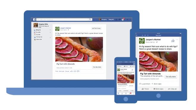Mẫu hiển thị quảng cáo video trên Facebook cho tất cả thiết bị