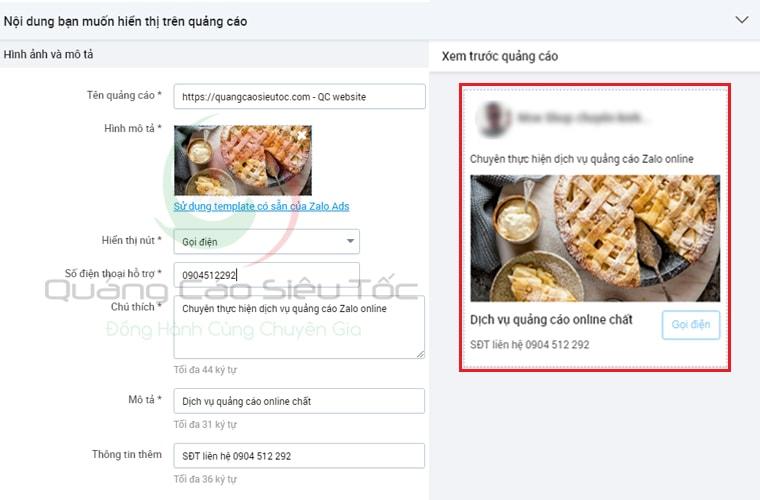 Dạng quảng cáo tăng traffic website trên Zalo