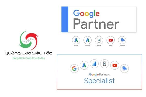 Chứng chỉ đối tác google của Quảng Cáo Siêu Tốc