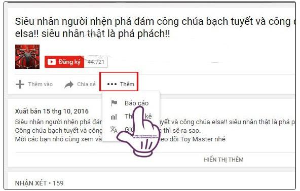 Hướng dẫn cách report trên Youtube