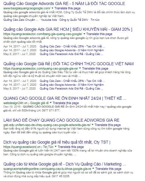 Tại Sao Website Của Tôi Không Có Trên Trang 1 Google?