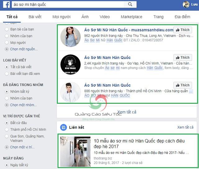 Seo từ khóa trên Facebook