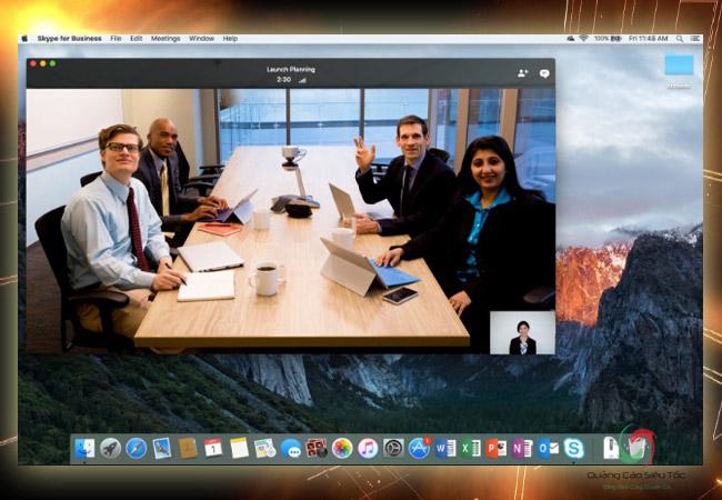 Skype for bussiness cho phép họp, thảo luận ngay trong lúc di chuyển