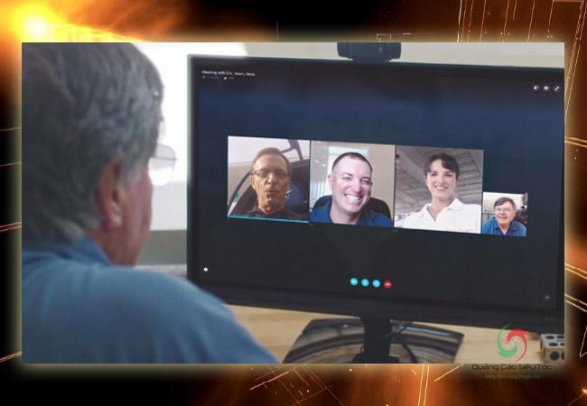 Skype for bussiness cho phép lên lịch cuộc họp bằng cách kết nối với outlook