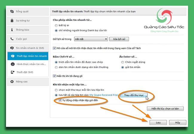 Skype lưu file ở đâu ở phiên bản mới nhất