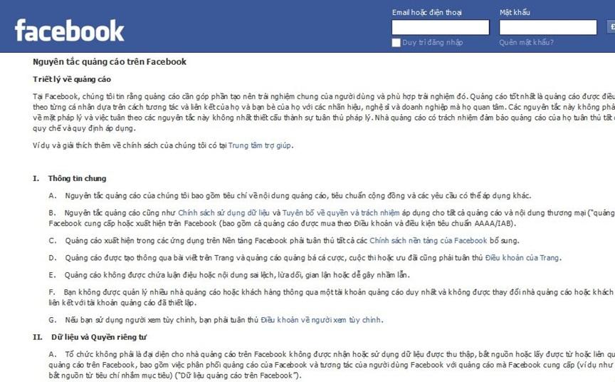 nguyen nhan tai khoan quang cao bi facebook khoa