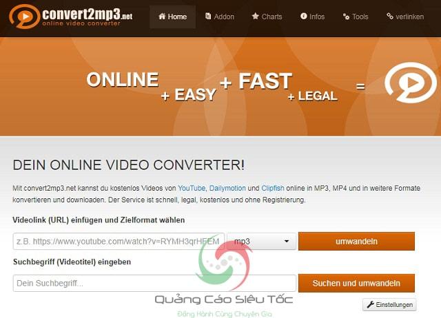Convert2mp3 hỗ trợ tách file mp3 nhanh chóng, dễ dàng