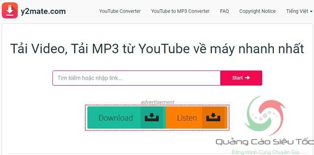 Các bạn cũng có thể sử dụng công cụ Y2mate để đăng nhập tải file mp3 từ các video trên Youtube