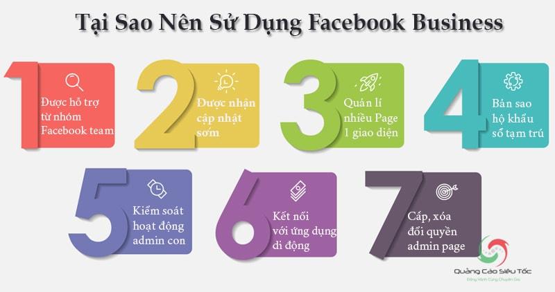 Tại sao nên sử dụng tài khoản Facebook Business Manager