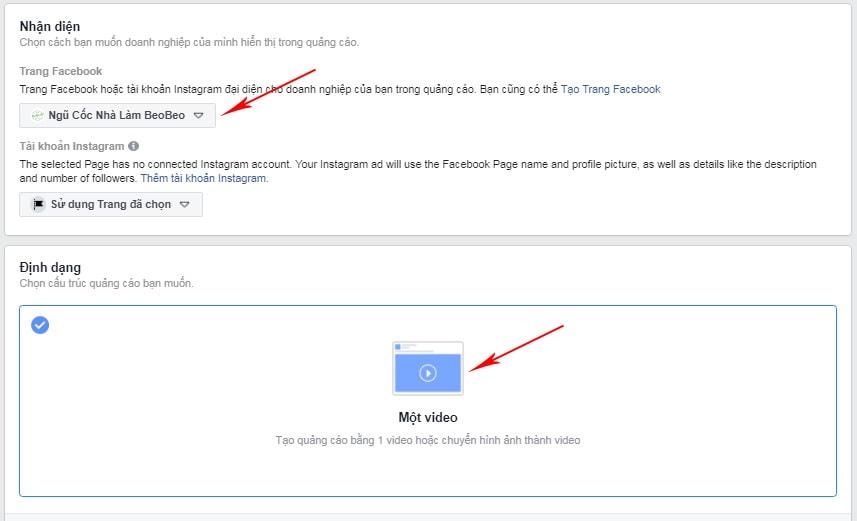 mẫu video quảng cáo facebook