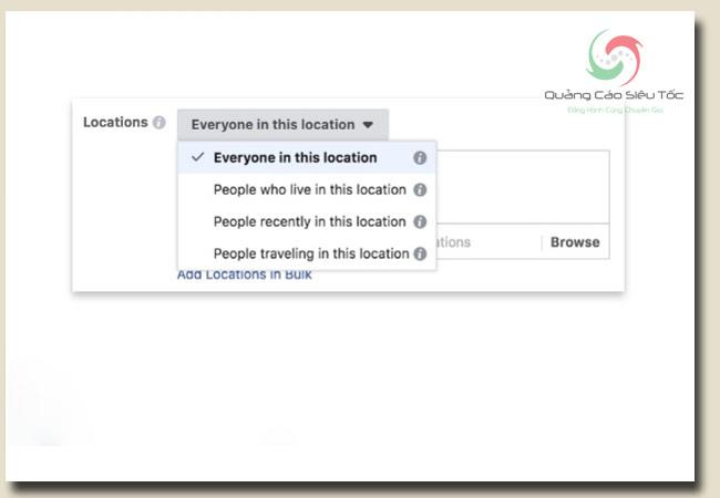 target đối tượng facebook dựa vào vị trí