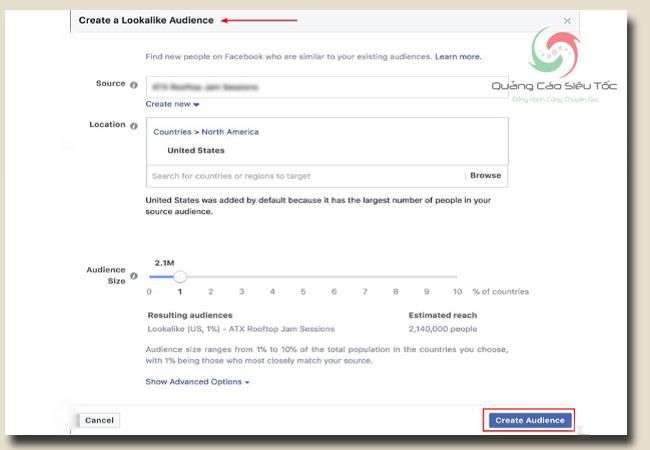 target đối tượng facebook dựa vào tính năng target đối tượng tương tự