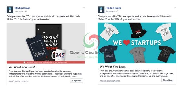 test quảng cáo Facebook