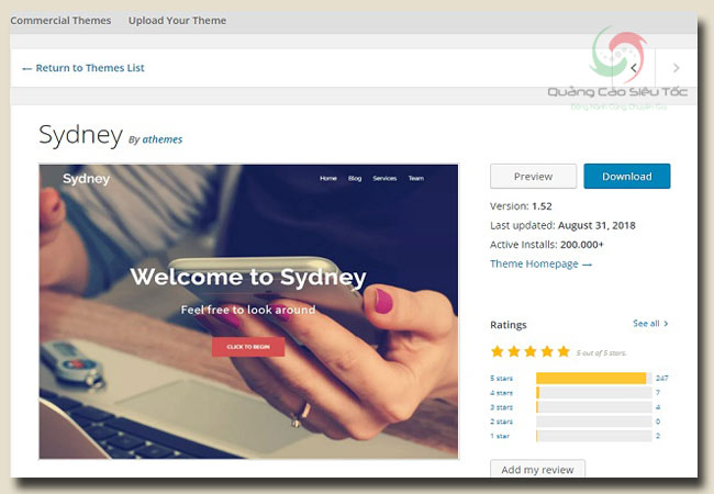 theme wordpress free Sydney