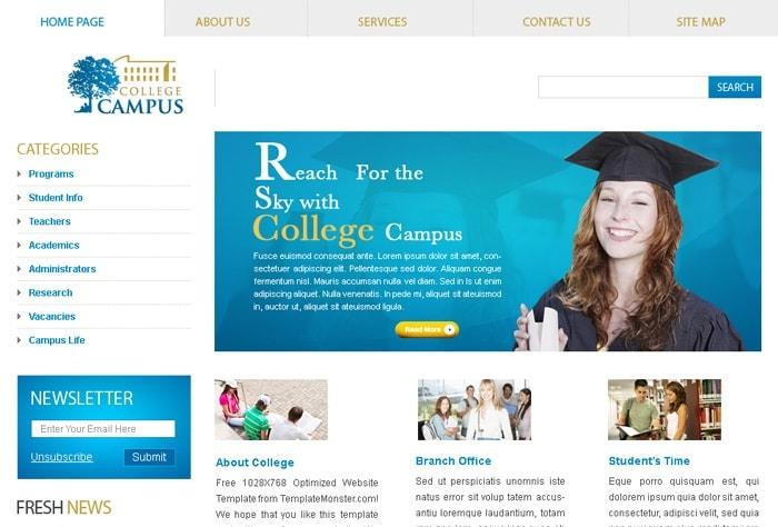 Thiết Kế Website Giáo Dục – Trường Học