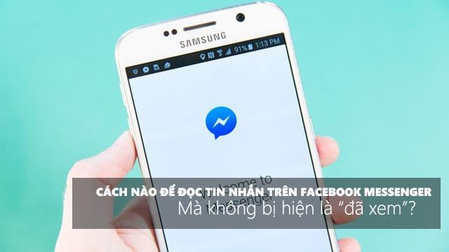 Bạn Đang Muốn Tắt Thông Báo Đã Đọc Tin Nhắn Facebook ?