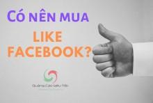 Có nên mua Like Facebook hay không ? Tại Sao Vậy?