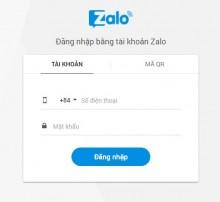 Cách Đăng Nhập ZALO CHAT Trên Website